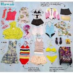 What to pack for a trip to Hawaii from Lucky Magazine.