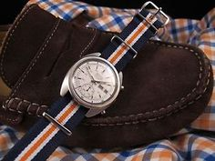 NEW DC VINTAGE WATCHES AUCTION: Vintage 1975 Seiko 6139-6012 Automatic Chronograph, w/Matching NATO Strap