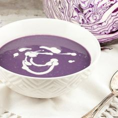 Ever tried red cabbage soup? It will definitely surprise you and your guests! The color is a pretty purple.