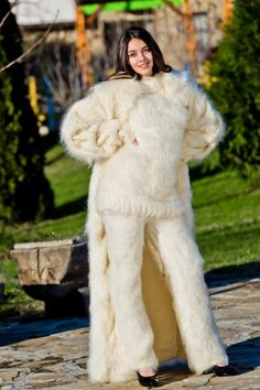 I would love to be wrapped under that coat while she rides my cock and fucks me all night burying my body in fuzzy mohair Knitted Coat, Hand Knitted Sweaters, Mohair Sweater, Wool Sweaters, Wool Coat, Angora, Catsuit, Gros Pull Mohair, Nordic Sweater