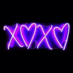 love i love you heart purple neon hearts xoxo neon sign neon lights hugs and kisses neon art purple heart neon signs purple neon custom neon signs purple neon sign Dark Purple Aesthetic, Neon Aesthetic, Neon Purple, Purple Walls, Purple Glitter, Magenta, Pink Blue, Neon Wallpaper, Aesthetic Iphone Wallpaper