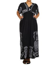 Another great find on #zulily! Black Filigree Maxi Dress - Plus #zulilyfinds