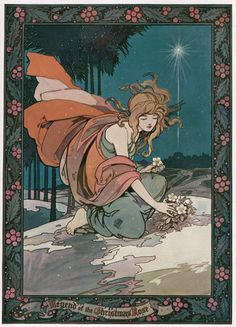 Legend of The Christmas Rose illustration, 1923
