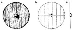 Viking shields were typically 80-90 cm in diameter. The board was flat, and made of a single layer of planks butted together. The planks were usually only 6-10mm thick and were bevelled even thinner at the outer edge. There is no archaeological evidence for laminated construction though contemporary poetry and slightly later legislation suggests it.