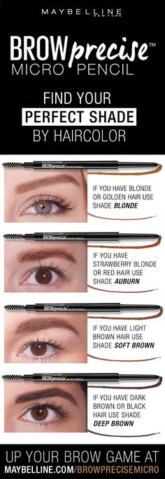 Create the look of natural looking brows with the Brow Precise Micro Pencil. Its micro fine tip allows for fine, hairlike strokes for the most natural look! Brows are shaped and filled with impeccable precision. Sparse Eyebrows, How To Trim Eyebrows, Filling In Eyebrows, Dark Brows, Tweezing Eyebrows, Threading Eyebrows, Eyebrows Grow, Makeup Eyebrows, Shopping