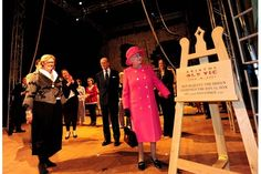The queen looking at the plaque I made for the reopening of the royal box at the Bristol Old Vic, November 2012 Bristol, Dan, November, Carving, Queen, Lettering, Image, Fashion, November Born