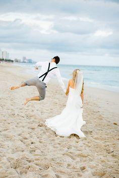 Fun Fort Lauderdale Beach Wedding by Elaine Palladino Photography - via ruffled