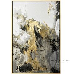 Framed Wall Art Modern Abstract Landscape Gold Gray Wall Art Print Painting on Canvas Gold Art Large Wall Art Picture Cuadros Abstractos Grey Wall Art, Large Wall Art, Framed Wall Art, Canvas Wall Art, Wall Art Prints, Modern Oil Painting, Contemporary Paintings, Grand Art Mural, Images D'art
