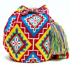 Wayuu Boho Bags with Crochet Patterns Tapestry Bag, Tapestry Crochet, Mochila Crochet, Boho Bags, Crochet Stitches Patterns, Crochet Purses, Stuffed Animal Patterns, Knitted Bags, Crochet Accessories