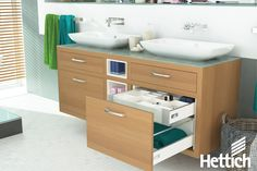 Have perfectly organised bathroom storage with InnoTech drawer systems by Hettich. Click on the pin for more information. #bathroomstorage #bathroomorganization
