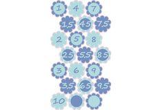 Magasságmérős jelölő matrica, kék