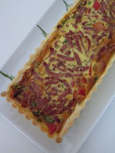 Quiche with peppers & bacon quiche