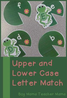 Boy Mama Teacher Mama | Frog Themed Upper and Lower Case Letter Matching Game