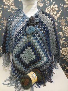 Resultado de imagem para poncho de trico