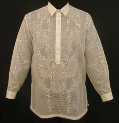 White barong tagalog for the groom