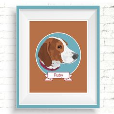Personalized Dog Portraits. #custompetportrait #bassethound #hounddogportrait #dogportraits #digitalpetportrait #personalizedpetportrait #customdogportrait #petmemorial #dogmemorial #petsympathygift #customdogillustration