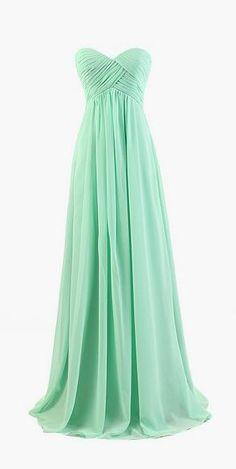 Long Chiffon Bridesmaid Dress
