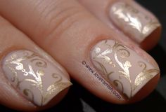 Love. Varnish, chocolate and more...: Sephora by OPI XOX Betsey stamped with China Glaze 2030