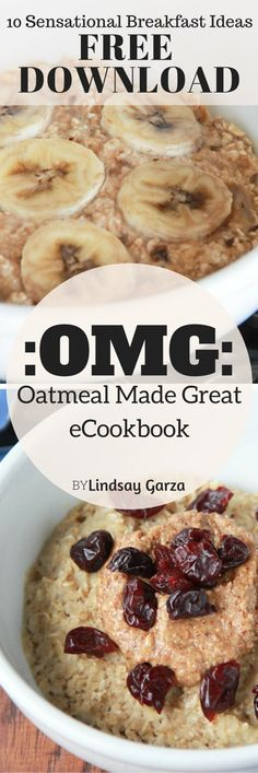 Oatmeal Made Great: OMG comprises of 10 recipes using oatmeal. Each recipe is adapted for a vegan, vegetarian and gluten-free. Under 400 calories each.