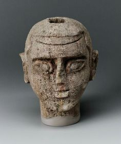 Sandstone ba-bird head. Nubian. Late Meroitic Period. Mid-3rd century A.D. | Museum of Fine Arts, Boston