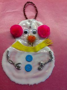Glue Snowman Ornament- Great for the grandkids