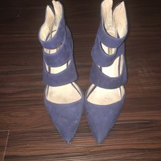 Blue Suede Designer Booties These beautiful blue suede Louise et Cie booties are perfect as a statement piece to your work wardrobe. Originally purchased at Nordstrom. Louise et Cie Shoes Ankle Boots & Booties