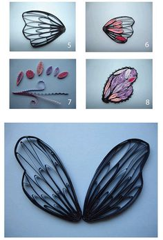 quilled butterfly wings - bjl