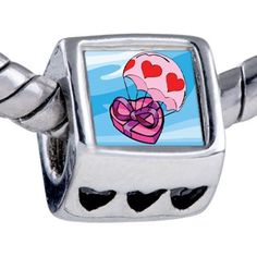 Pugster Flying Hearts Chocolate Photo Beads Fits Pandora Charm Bracelet Pugster. $12.49. Bracelet sold separately. Unthreaded European story bracelet design. It's the photo on the heart charm. Hole size is approximately 4.8 to 5mm. Fit Pandora, Biagi, and Chamilia Charm Bead Bracelets