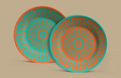 Aplicaciones:  Crónicas Visuales del Abya Yala by Vanessa Zúñiga, via Behance Ceramic Plates, Graphic Design Inspiration, Tatt, Behance, Shapes, Ceramics, Crafts, Home Decor, Patterns