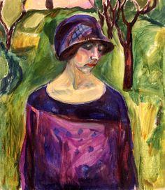 Birgit Prestøe in the Garden, Edvard Munch - 1924-1930