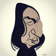 Alan Rickman aka Severus Snape from Harry Potter. RIP. #caricatura #caricature #caricatures #carica - dgvivancos