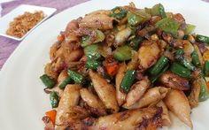 Resep Seafood: Oseng Cumi Asin Cabai Hijau