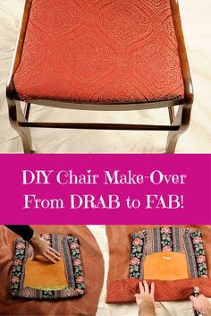 From Drab to Fab! DIY Chair Reupholstery for Beginners