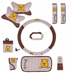 NEW Disney Winnie the Pooh Car Accessories 10 PCS - Tap The Link Now To Find Gadgets for your Awesome Ride