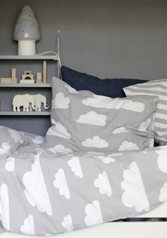 #boysroom #grey #cloud bedlinnen