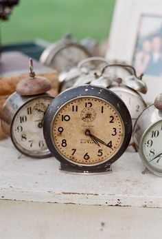 Vintage Clocks ~ I love old items
