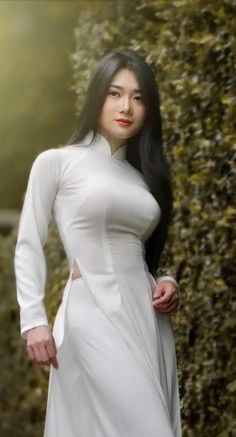 IsoSensuals ENHANCE is an all natural breast enlargement cream that contains active ingredient Voluplus, proven to increase breast volume Asian Fashion, Girl Fashion, Curvy Women Fashion, Beautiful Long Dresses, Vietnamese Traditional Dress, Bollywood Girls, Beauty Full Girl, Beautiful Asian Women, Ao Dai