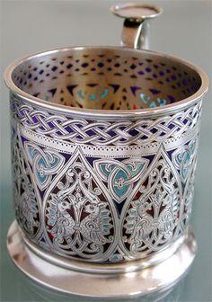 Quite a beautiful Russian tea holder.