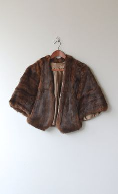 Sable Stole 1950s fur cape vintage 50s mink fur by DearGolden