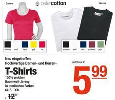 72f4f2b81a42a Neu eingetroffen  Hochwertige Damen- und Herren-T-Shirts von peter cotton in