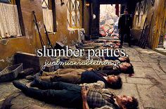 """Just Miserable Things"" Slumber parties with Les Amis de l'ABC. Not a very cheerful party..."