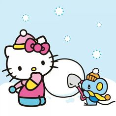 Snow and mouse hk Hello Kitty Christmas, Christmas Cats, Christmas And New Year, Hello Kitty Clothes, Hello Kitty Items, Hello Kitty Backgrounds, Hello Kitty Wallpaper, What Is Red, Owl Clip Art