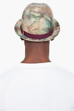PAUL SMITH Palm Print Straw Hat