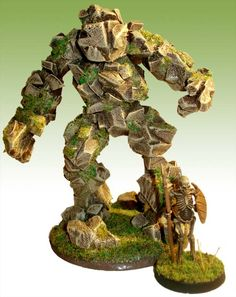 Making an Earth Elemental from foam | #Miniatures #HowTo