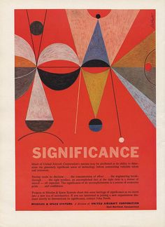 Missiles & Space Systems Ad assembled by bustbright, via Flickr