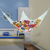 Mother & Kids Activity & Gear Lovely Foldable Organize Holder Storage Hammock Ultralight Large Storage Net Bedrooms Playroom Storage Toys And Sports Equipment #15