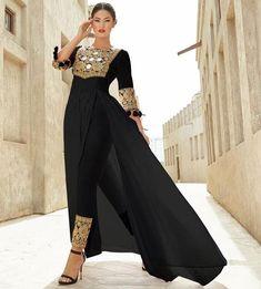 Man this is pretty Pakistani Dress Design, Pakistani Dresses, Indian Dresses, Indian Outfits, Stylish Dresses, Casual Dresses, Fashion Dresses, Muslim Fashion, Asian Fashion