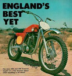 New Greeves 250 and Motorcycle Dirt Bike, Motorcycle Racers, Motorcycle Posters, Mx Bikes, Road Bikes, Classic Motors, Classic Bikes, Desert Sled, Vintage Motocross