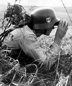 Waffen SS studying his enemy