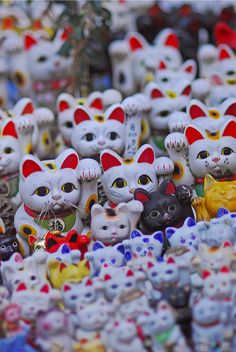 Maneki-neko - Japanese beckoning cat to invite good luck and more customers at house and shops.